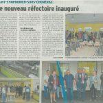Un nouveau réfectoire pour l'école de Saint-Symphorien-sous-Chomérac