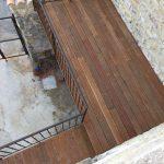 Mise en œuvre d'une terrasse extérieure en lames bois exotique IPE